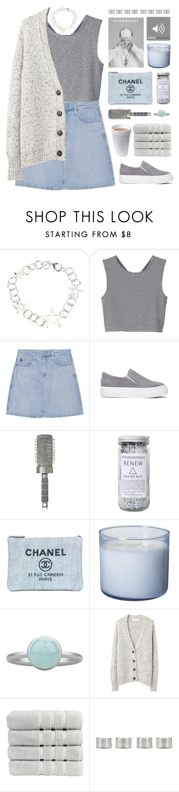 """via's 60k set challenge// read description"" by via-m ❤ liked on Polyvore featuring Monki, AG Adriano Goldschmied, T3, Herbivore, Chanel, Pieces, Vanessa Bruno Athé, Christy, Maison Margiela and vias60ksetchallenge"