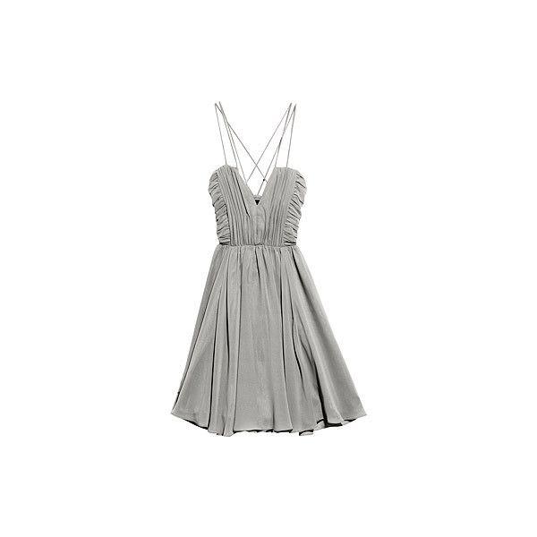 H&M Shop Online, dress, 399sek ❤ liked on Polyvore featuring dresses, vestidos, grey, vestiti, h&m dresses, grey dress and gray dress