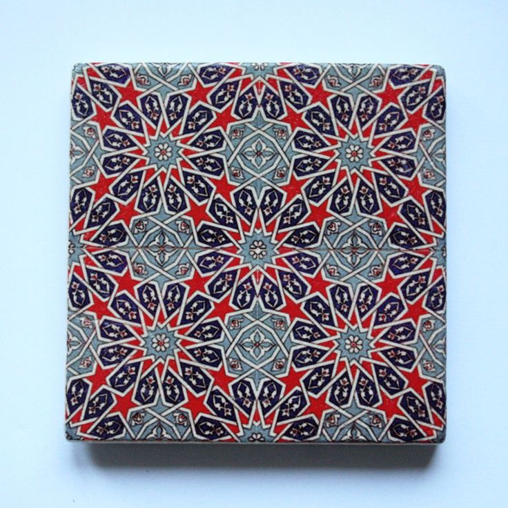 Turkish Ottoman Tile Design Stone Coaster