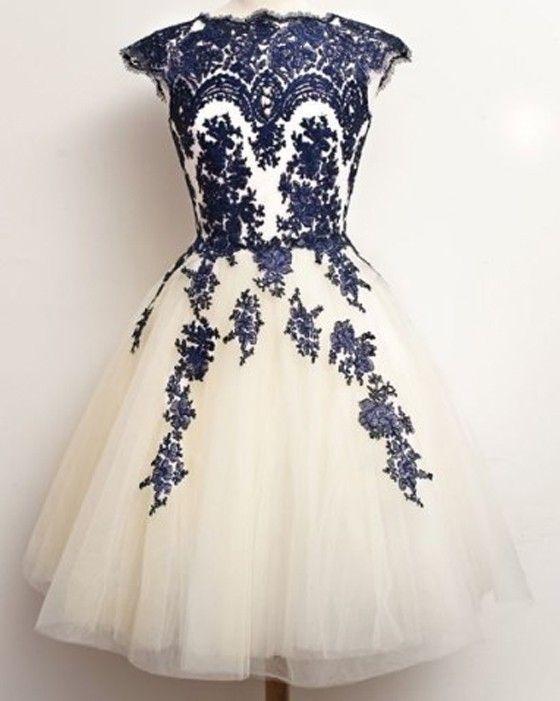 Blue Floral Print Sleeveless Sweet Lace Midi Dress