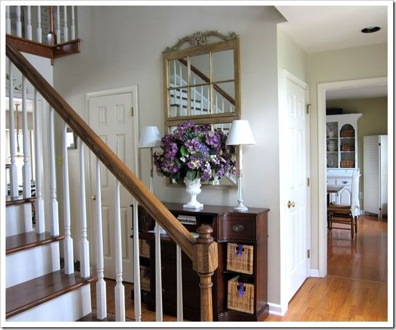 My Foyer Staircase Reveal : My foyer staircase makeover reveal front hallway foyers