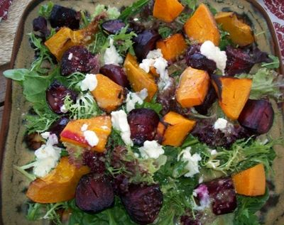 Root veggies are AMAZING in salads! You can substitute the butternut with orange sweet potato which works very well! I LOVE LOVE LOVE this salad! Too good! 4 beetroots, peeled ½ a butternut or 3 or...