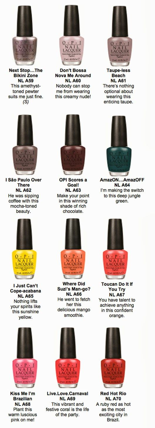 Brazil Collection By OPI Spring/Summer 2014 - everything2k