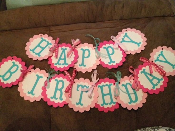 Birthday banner pink girl birthday banner owl whale etsy