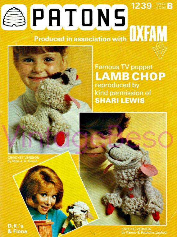 Lamb Chop CROCHET Pattern + Vintage Lamb Chop KNITTING ...