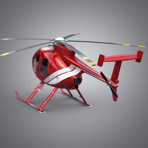 3d Md Helicopter Model Helicopter Model 3d Model