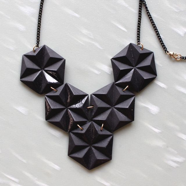 Black Prism Armour: Prism Armours, Black Prism, Armors, Armours Necklaces, Cute Necklaces, Fashion Accessories, Jewelry, Prism Necklaces, Geometric Necklaces