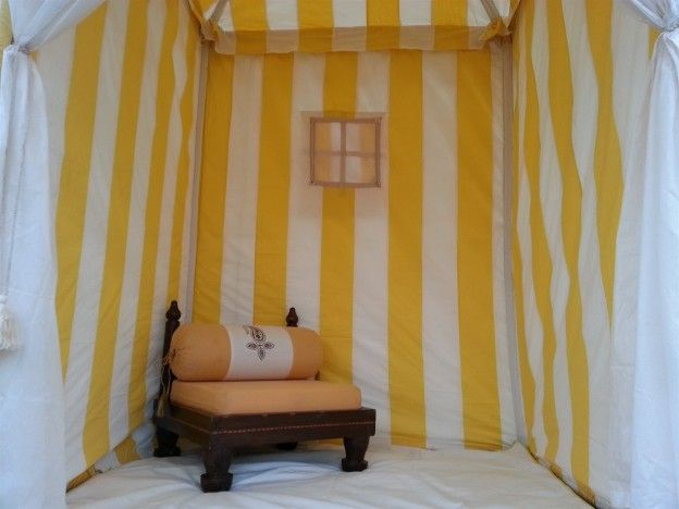 Tea Tent with Low Wooden Seat