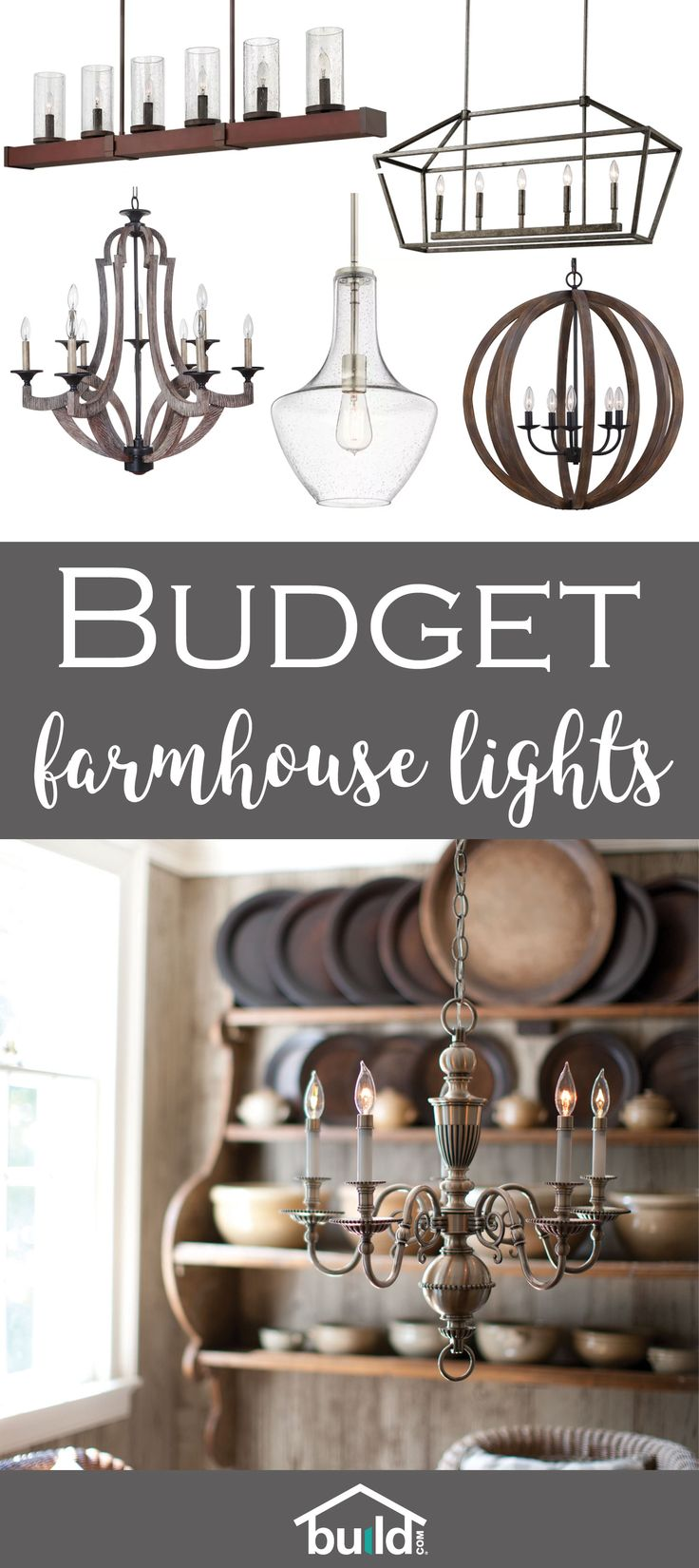Dress up your home and rejuvenate your space with these budget friendly farmhouse lights.
