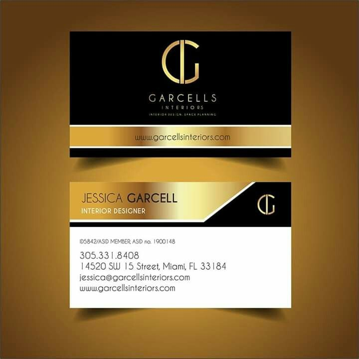 Business Card Design For Our Client Garcells Interiors