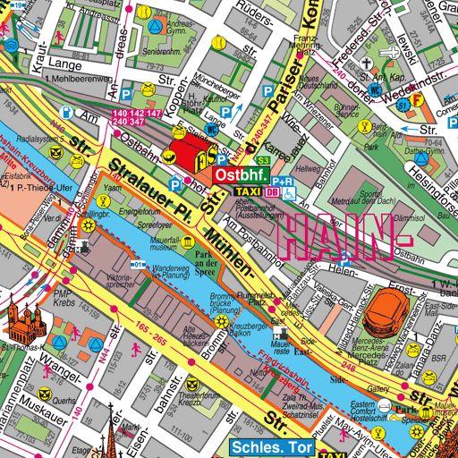 Stadtplan Berlin - Alexanderplatz - Fernsehturm - Rotes Rathaus