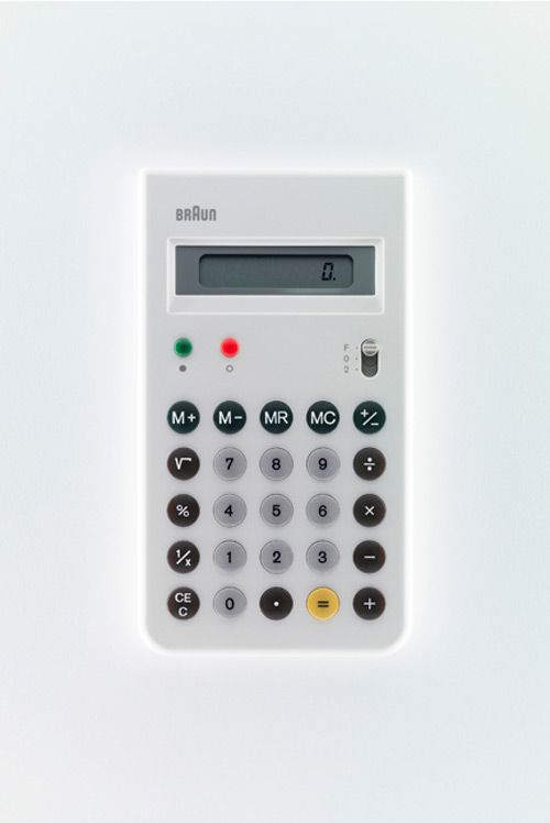 Dieter Rams / Braun / Calculator / White / [Year]