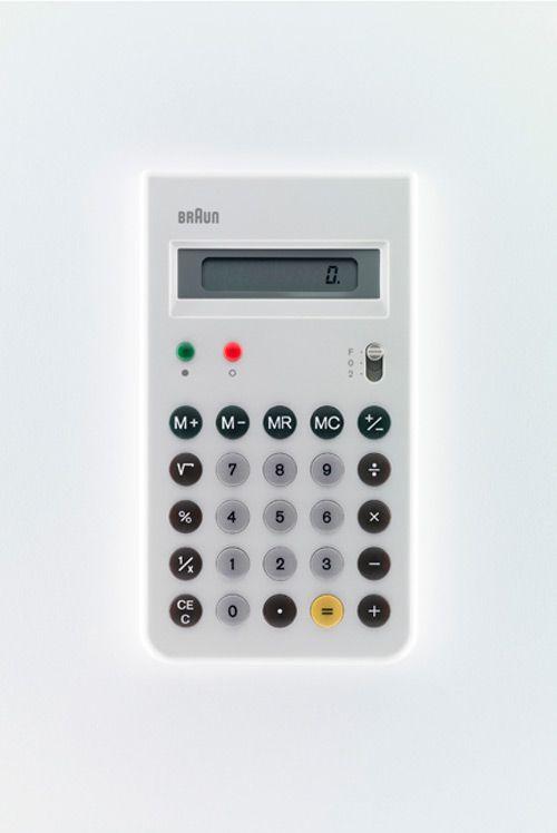 Dieter Rams / Braun / Calculator / White / [Year]