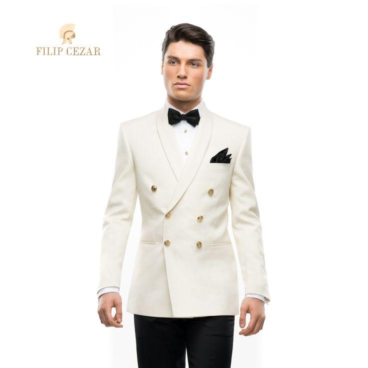 Costum de mire la comandă Filip Cezar Double Ivory  http://www.filipcezar.com/ro/costume-barbati/286-costum-filip-cezar-double-ivory.html
