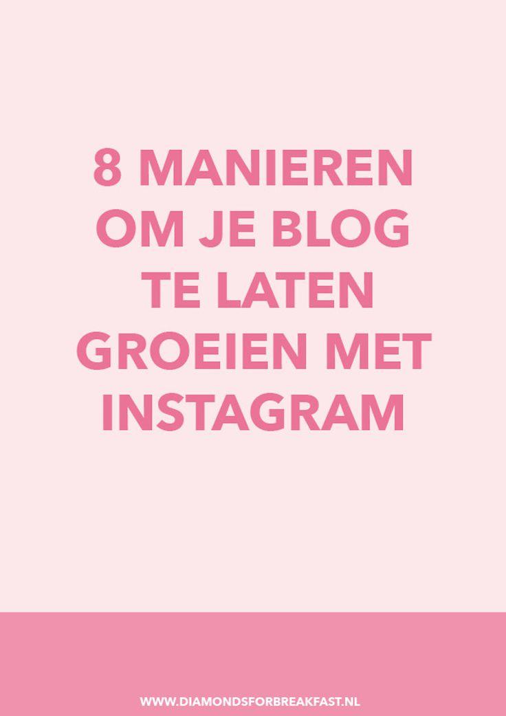 Wil je graag je blog laten groeien? Zet dan je Instagram account in en gebruik deze 8 slimme tips om via Instagram meer verkeer naar je blog te trekken.