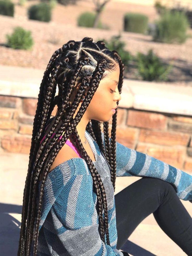 Sencillo y bonito peinados con trenzas africanas Fotos de tendencias de color de pelo - SheSoBoujiee | Box braids hairstyles, Box braids ...