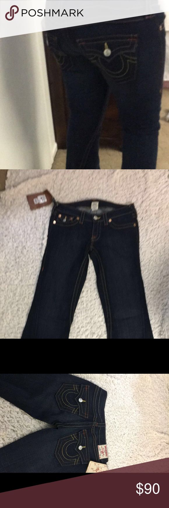 True Religion low cut boot cut jeans Never worn brand new True Religion Pants Wide Leg