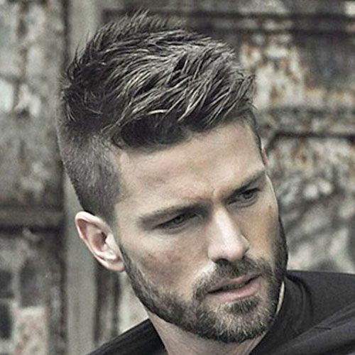High Fade with Quiff and Beard