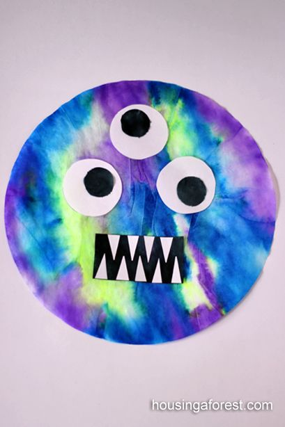 Monster Marker Prints from coffee filters