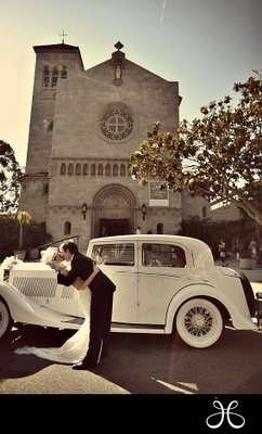 vintage glamour photography - Google Search.. I love the classic car in front of church shot!!