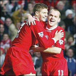 Steven Gerrard & Danny Murphy, Reds Dream Team.