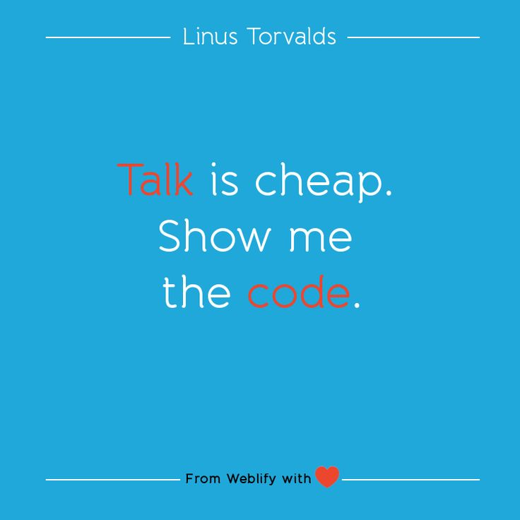 Inspiring coding quotes: Linus Torvalds