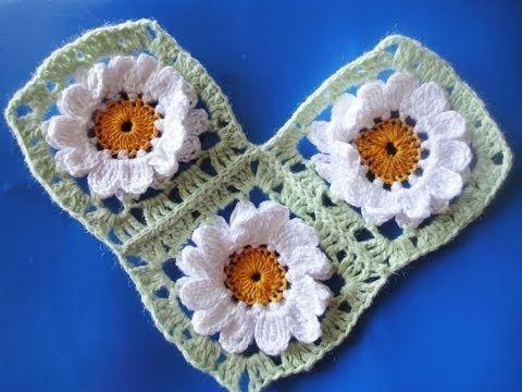 Соединение квадратных мотивов  Compound square motifs Crochet