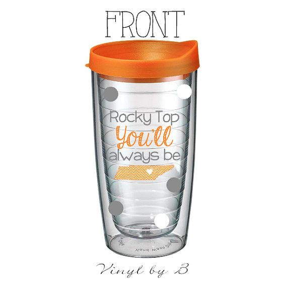 Rocky Top You'll Always Be - Tervis Style Tumbler with Monogram - Tennessee Pride - Southern Girl - Travel Cup - Personalized