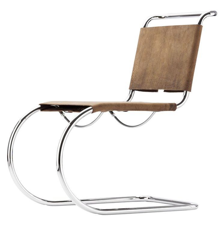 Sedia a slitta in pelle s533 by thonet design mies van der rohe sedie pinterest chairs - Mies van der rohe sedia ...