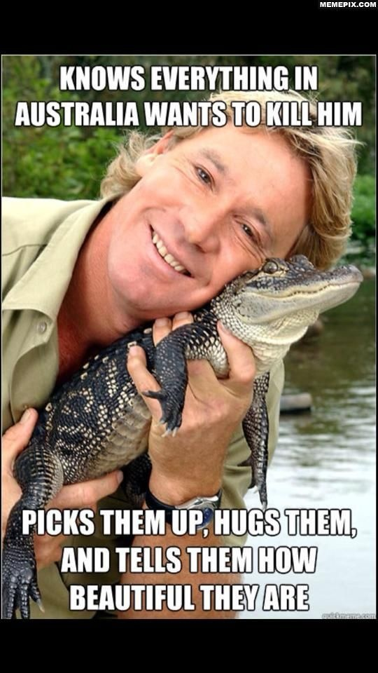 I adored my Steve Irwin videos. they were so educational - I learned a lot about Australian culture & wildlife.