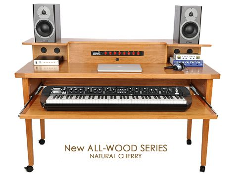 grande model home recording studio desk with power up cable - Home Studio Desk Design