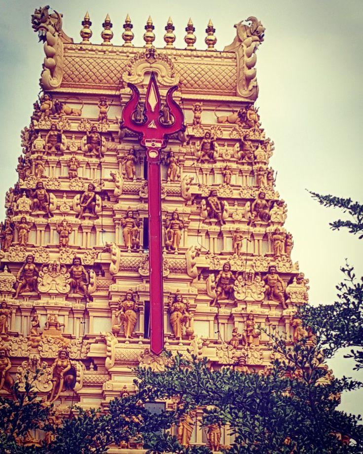 Majesti  Kota Kemuning  Maha Mariamman Temple gopuram Shah Alam Malaysia.