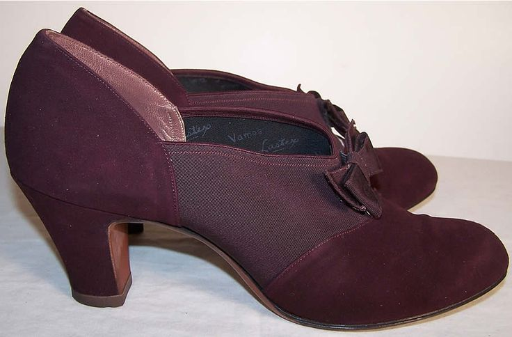 SO Cute, Purple Vintage Womens Shoes - Fashion 1940s.org | The 1940s