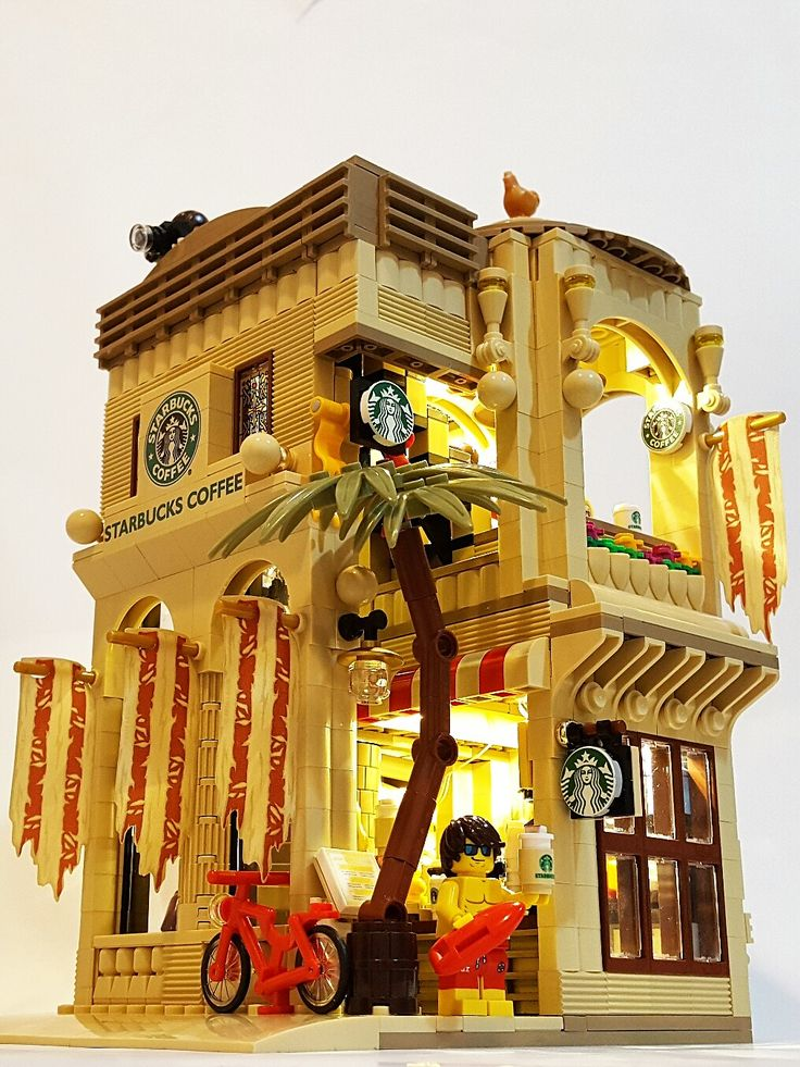 """LEGO Starbucks Mediterannean Cafe (16x16) """"The beauty of the Mediterranean style, from coast to a cup of coffee"""""""