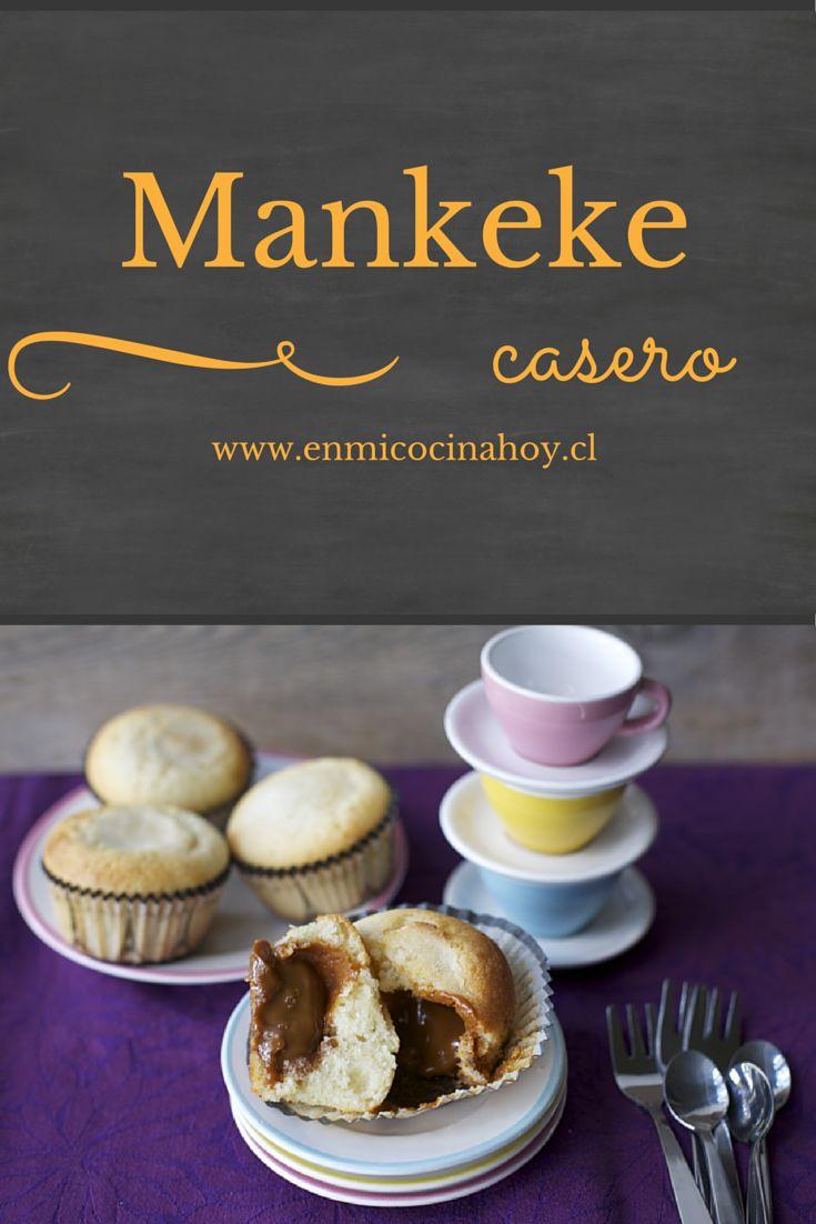 El mankeke es un quequito muy esponjoso relleno con manjar, tradicionalmente se compra en kioscos, pero acá encuentran la versión casera.
