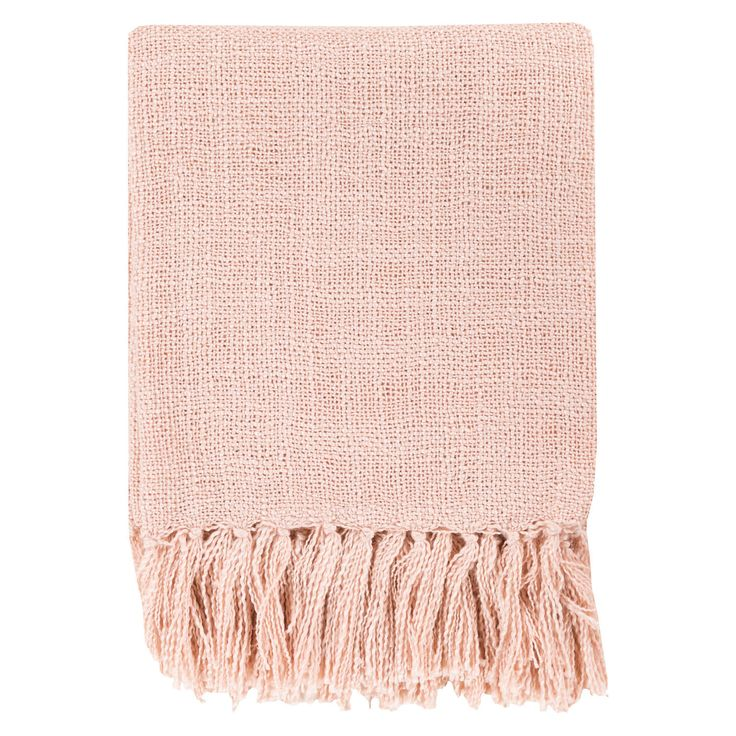 throw blanket in the perfect shade of blush to keep warm while working on cold mornings!