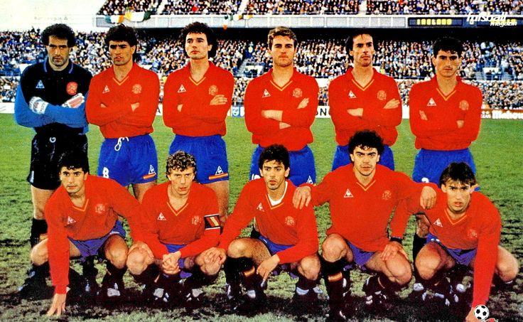 Equipos de fútbol: ESPAÑA Selección 1982-1990