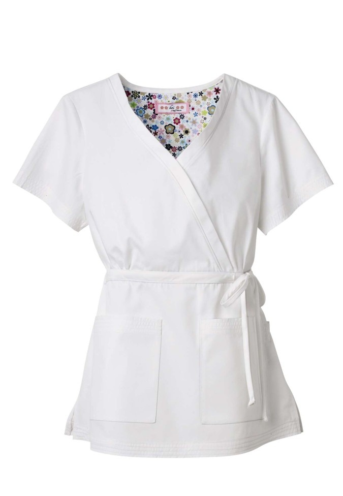 White Scrub top for Pinning ceremony :)