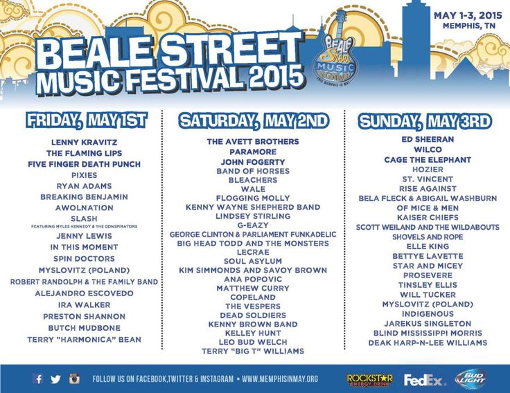 The Beale Street Music Festival at Tom Lee Park May 1-3