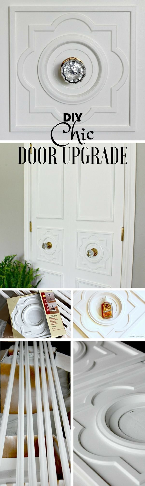 Check out the tutorial: #DIY Chic Door Upgrade @istandarddesign