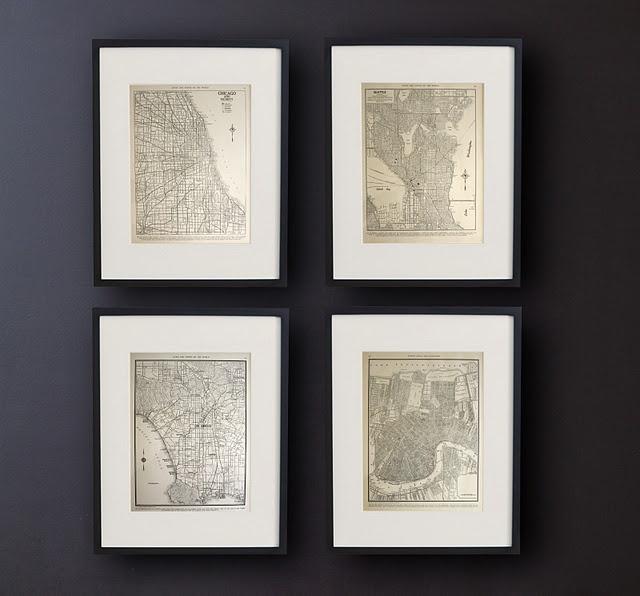 maps: Wall Decor, Street Marketing, City Maps, Vintage Maps, Cities Maps, Frames Cities, Vintage Frames, High Street, Vintage Cities