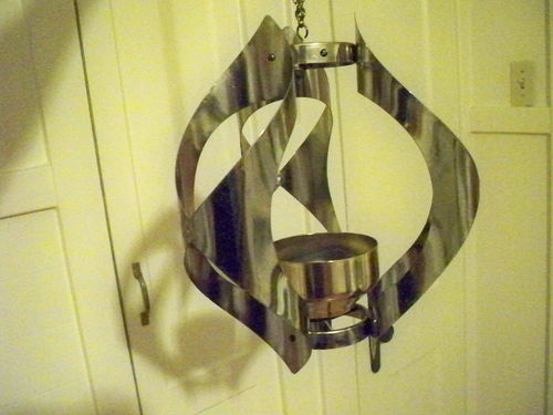 Vintage Mid Century Brass Hanging Candle Holder By Mascot