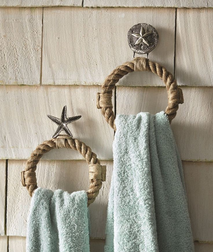 Hold your towels in chic coastal style from these two sea life towel holder rings. Made of cast aluminum and jute rope, keyhole hangers on back for hanging. Made in India by Mud Pie, imported. US and International government regulations prohibit such behavior. | eBay!