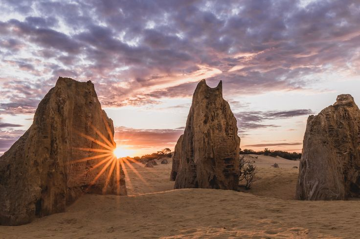 The Pinnacles are limestone formations within Nambung National Park, near the town of Cervantes, Western Australia.