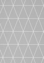 €39,90 Prezzo per rotolo (per m2 €7,63), Carta da parati geometrica, Tessuto base: Carta da parati TNT, Superficie: Liscio, Effetto: Opaco, Design: Triangoli, Scacchi, Colore di base: Grigio, Colore del disegno: Bianco, Caratteristiche: Buona resistenza alla luce, Bassa infiammabilità, Rimovibile, Stendere colla sul muro, Lavabile