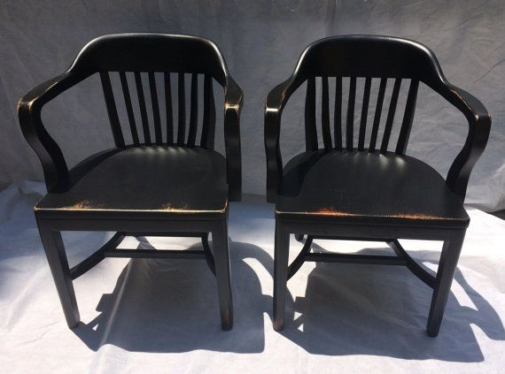 FOR DONNA Vintage Bankers Chairs/ Library Chairs/ Boling Chairs, North  Carolina, Set Of 2