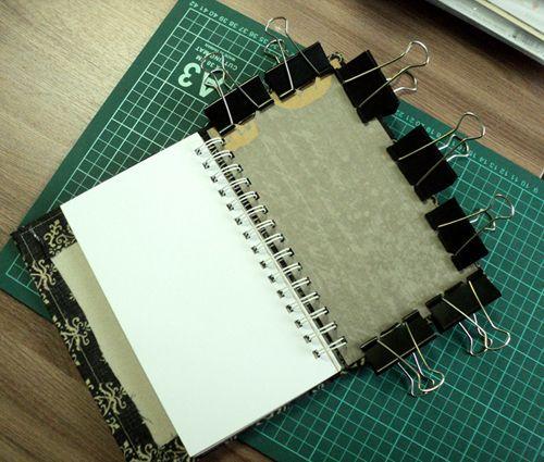 Как сделать мягкую обложку для блокнота на пружине