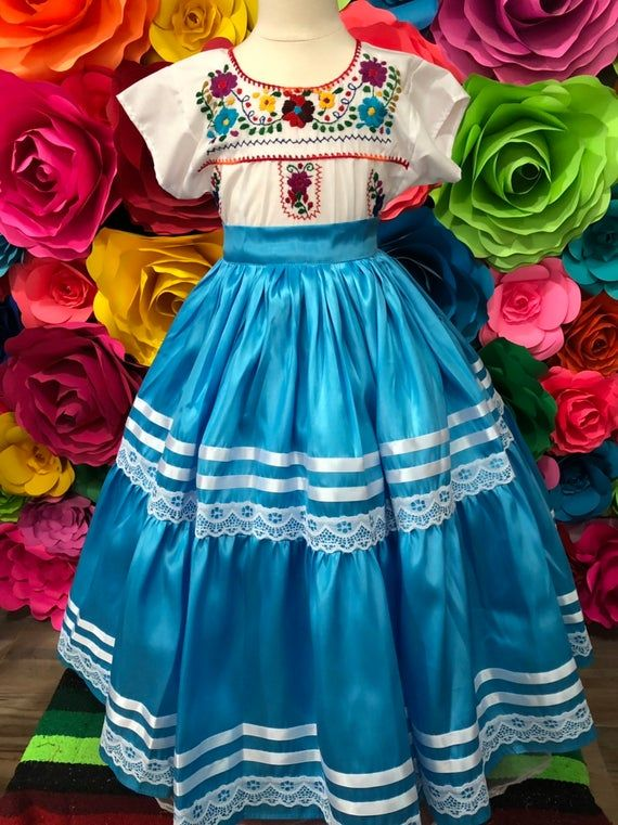 Mexican Red Skirt Only Day Of The Dead Handmade Beautiful