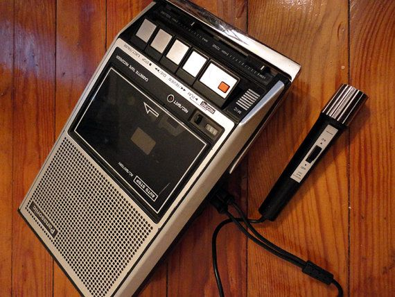 Image result for vintage panasonic compact cassette audio recorder