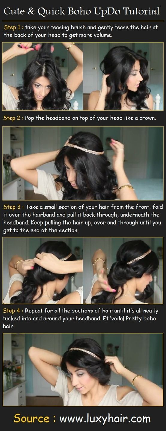 Cute  Quick Boho UpDo. The perfect instructions